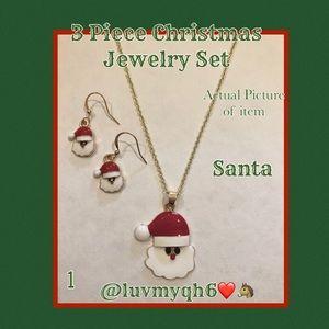 3 Piece Jewelry Set  Santa Claus
